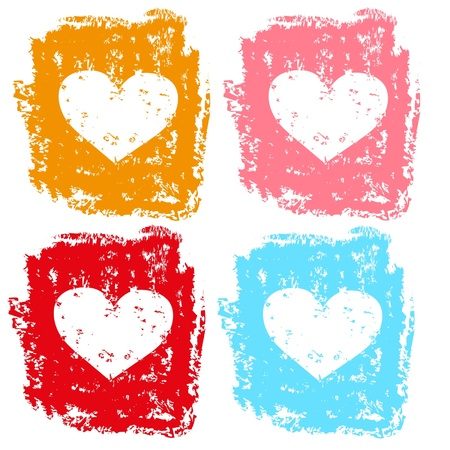 Set of hearts Stock Vector - 17571029