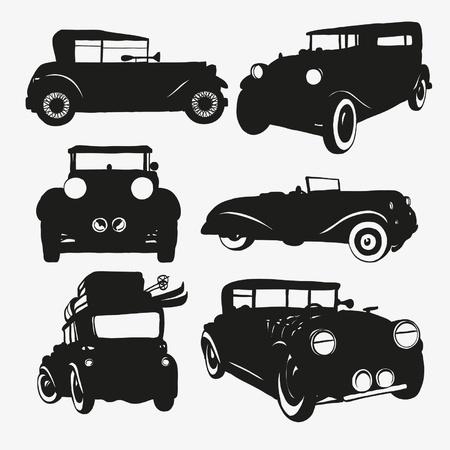Set Retro-Autos Standard-Bild - 17571028