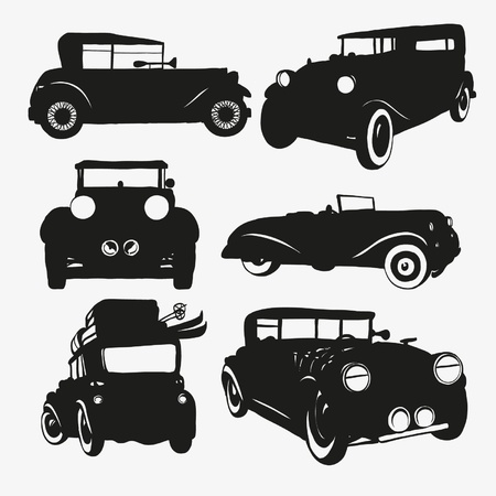 Set retro cars