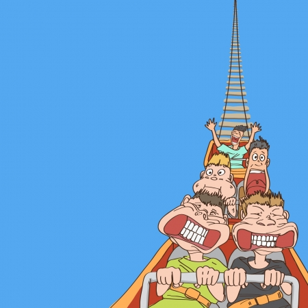Roller coaster Illustration