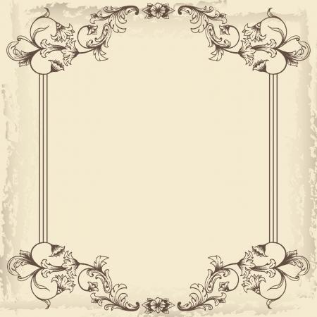 vintage scroll: Vintage frame