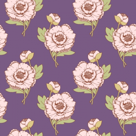 Seamless pattern on a purple background Vector
