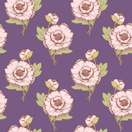 Seamless pattern on a purple background Illustration