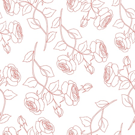 decoupage: Seamless floral pattern