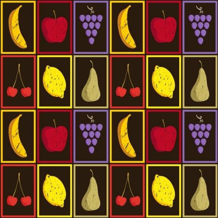 greengrocer: Pattern fruits Illustration