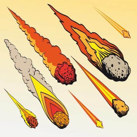 Set von Meteoriten Standard-Bild - 18116267