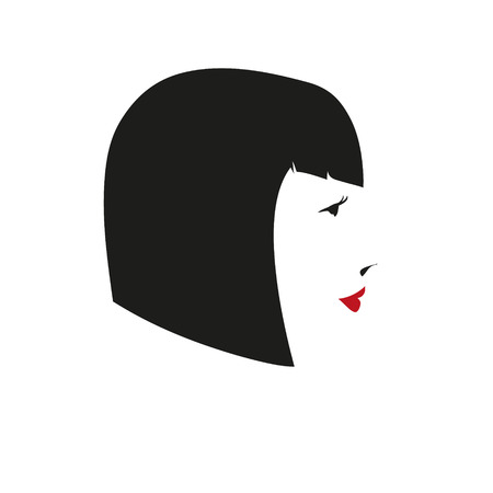 Fashion silhouette woman style Illustration