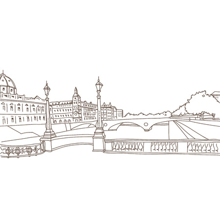 Hand drawn Paris, vector illustration Vector