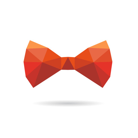 Bow tie abstract isolated on a white backgrounds, vector illustration Çizim