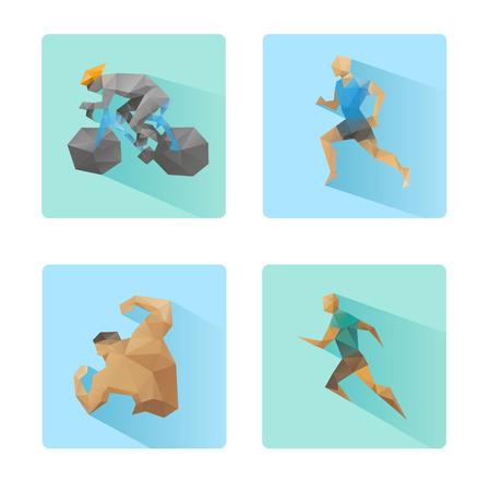 Set flaches Design Sport Icons isoliert auf weißem Hintergrund Standard-Bild - 27670091