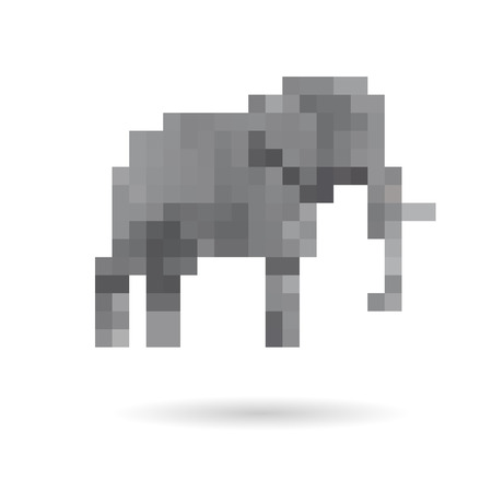 Elephant abstract isolated on a white background Vector