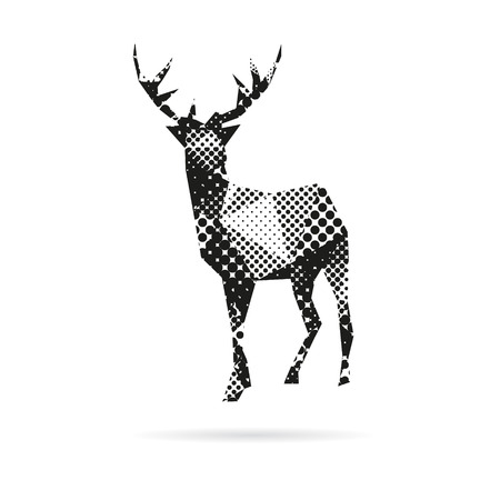 animal life: Deer abstract isolated on a white background