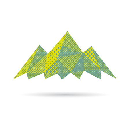 Mountain abstract isolated on a white backgrounds, vector illustration Vector