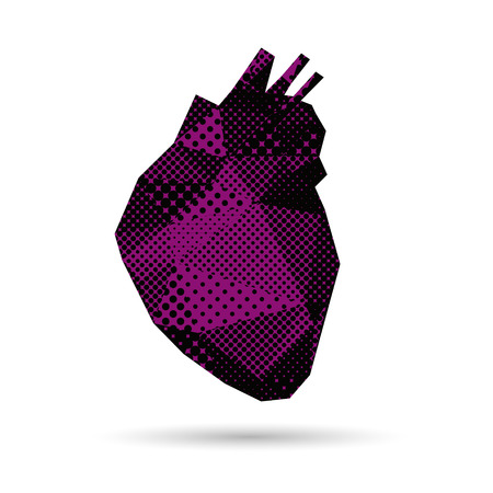 bosom: Heart abstract isolated on a white background, vector illustration
