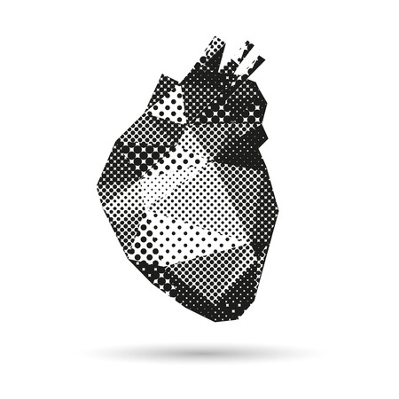 bosom: Heart abstract isolated on a white background Illustration