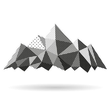 Abstracto montaña aislada en un fondo blanco