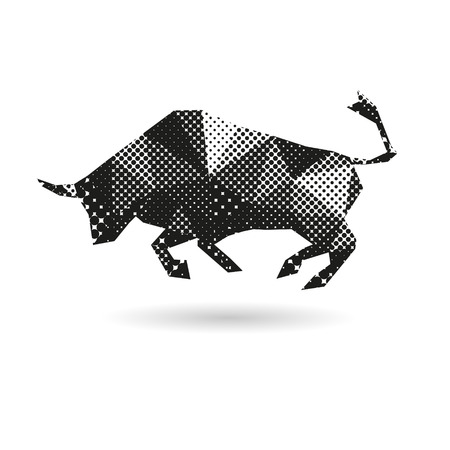 bull fight: Bull abstract isolated on a white background Illustration