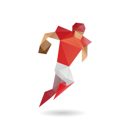 Rugby football abstract isolated on a white background Vector