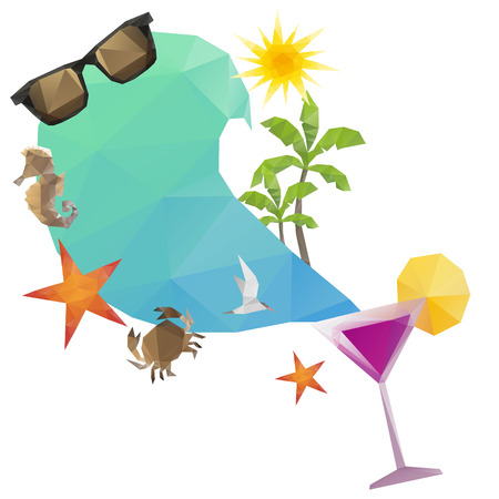 beach bar: Summer holidays background Illustration