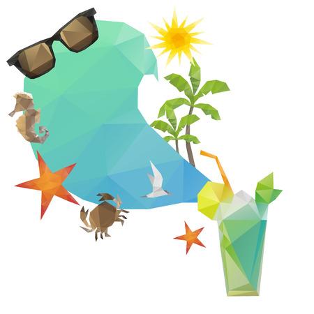 mojito: Summer holidays background Illustration