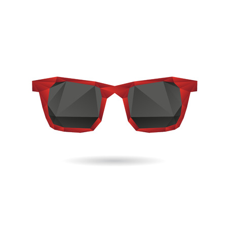 Sunglasses abstract isolated on a white background Illustration