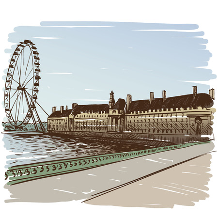 London hand drawn, vector illustration Vector
