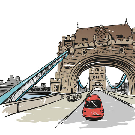 London bridge hand drawn, vector illustration Vector