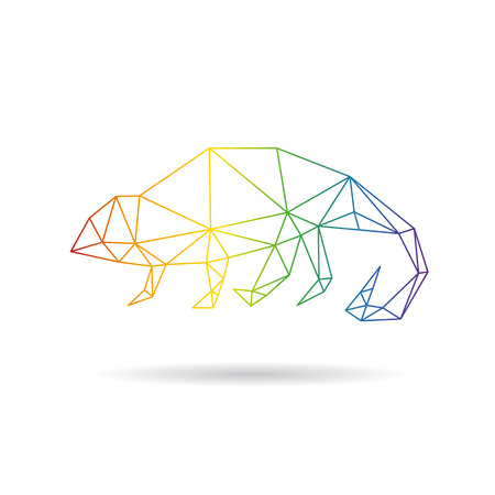 Chameleon abstract isolated on a white background, vector illustration Vector