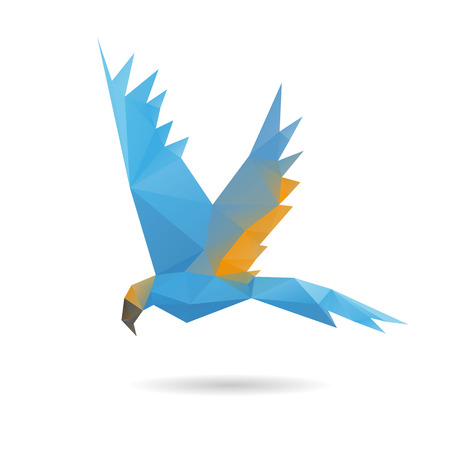 blue parrot: Parrot abstract isolated on a white background, vector illustration Illustration