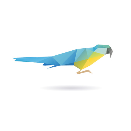 shape silhouette: Parrot abstract isolated on a white background, vector illustration Illustration
