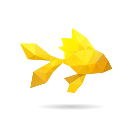 Fish abstract isolated on a white background, vector illustration