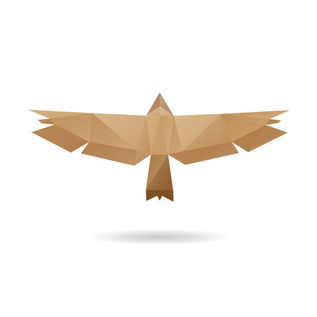 Eagle abstract isolated on a white background, vector illustration Vector