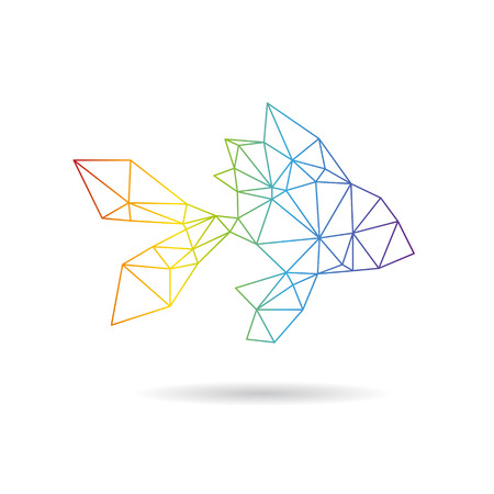 Fish abstract isolated on a white background, vector illustration Vector