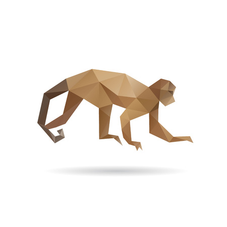 Monkey abstract isolated on a white background, vector illustration