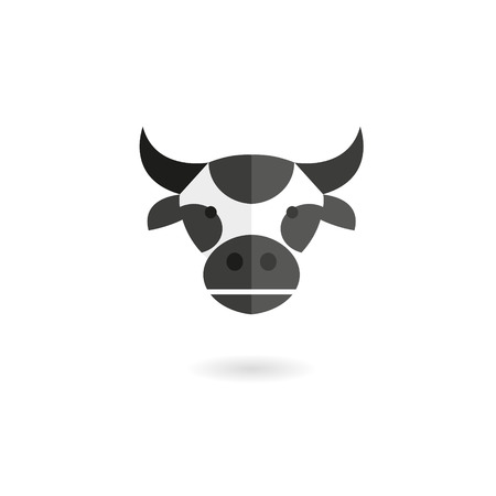 Cow head abstract isolated on a white backgrounds, vector illustration Vector