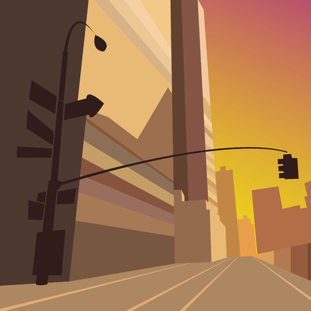 Cityscape, vector illustration Vector