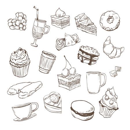 Confection hand drawn, vector illustration Illustration