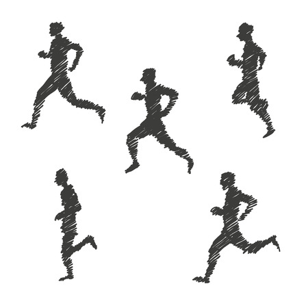 man abstract: Sport man abstract isolated on a white backgrounds, vector illustration Illustration
