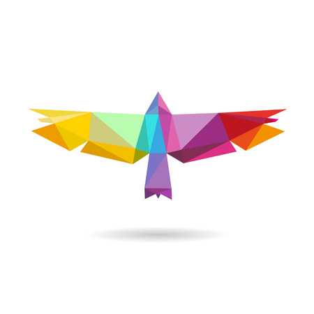 Bird abstract isolated on a white backgrounds