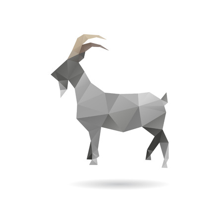 Goat abstract isolated on a white backgrounds Vector