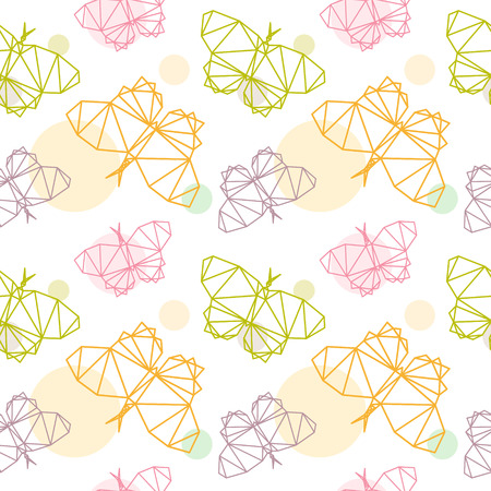 Butterfly seamless pattern backgrounds, vector illustration