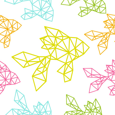 Fish seamless pattern backgrounds, vector illustration Illustration