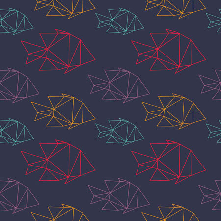 Fish seamless pattern backgrounds, vector illustration Vector