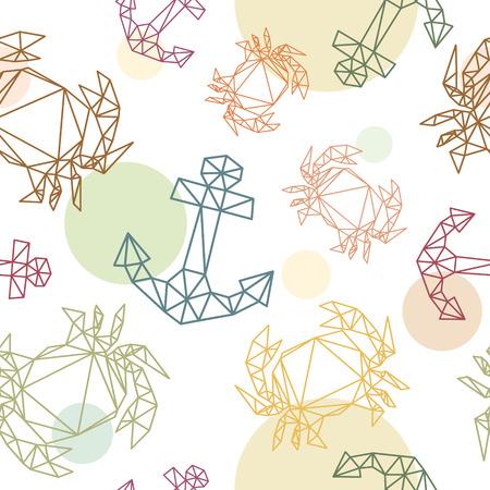Marine seamless pattern backgrounds, vector illustration Vector