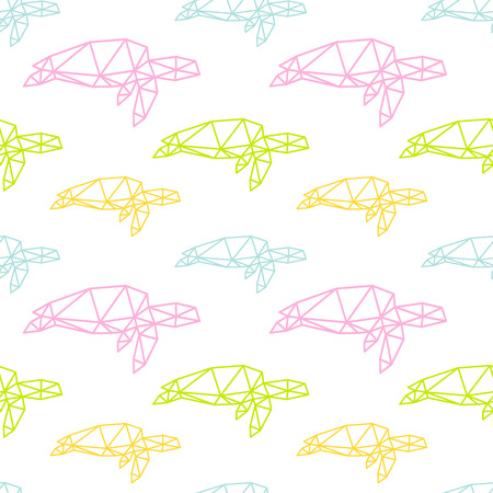 Sea turtle seamless pattern backgrounds, vector illustration Vector