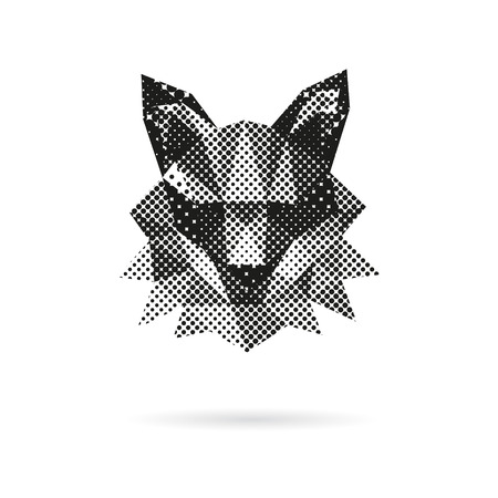 Fox head abstract isolated on a white backgrounds, vector illustration Illustration