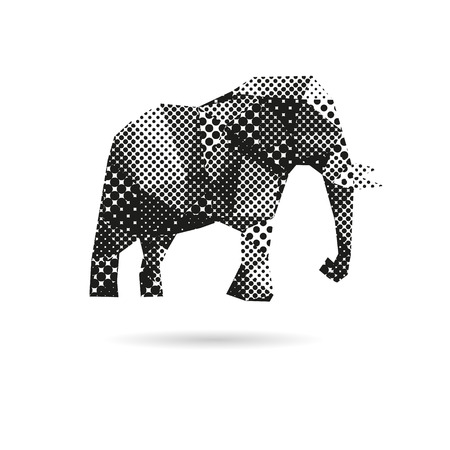 elephant trunk: Elephant abstract isolated on a white backgrounds, vector illustration