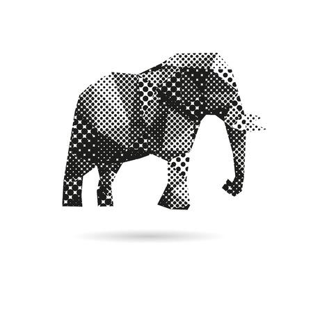 Elephant abstrakten isoliert auf weiße Hintergründe, Vektor-Illustration Standard-Bild - 33337420