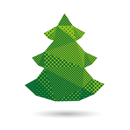 Fir tree abstract isolated on a white backgrounds, vector illustration Vector