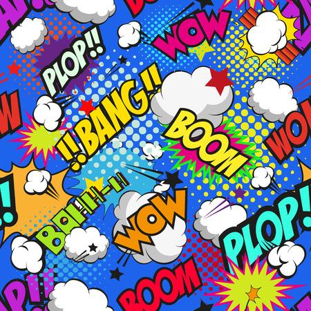 Seamless pattern boom backgrounds, vector illustration Illustration